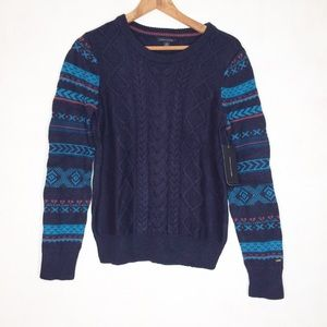 NWT Tommy Hilfiger M Navy Knit Sweater